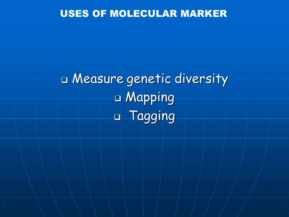 Single gene trait: seed shapeMultigenic trait; ex: plant growth =Quantitative Trait Loci Types of traits =types of markers MFG