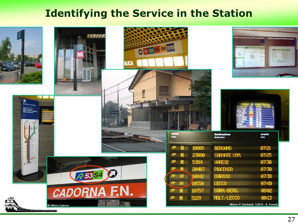 27 Identifying the Service in the Station