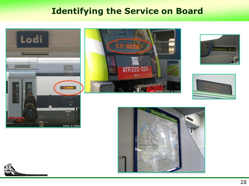 28 Identifying the Service on Board