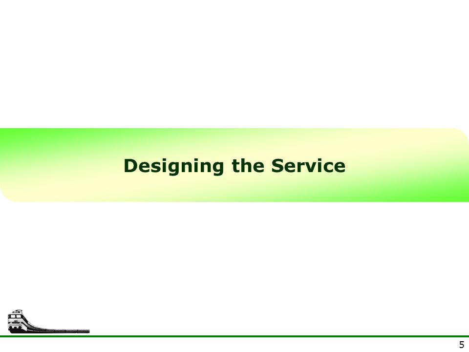 5 Designing the Service