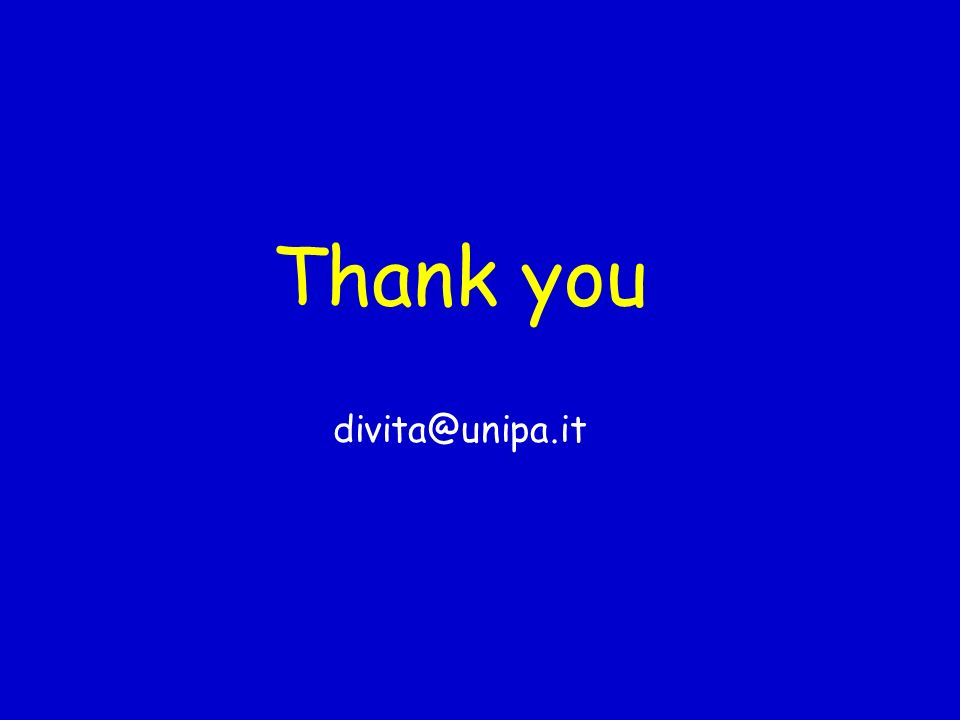 Thank you divita@unipa.it