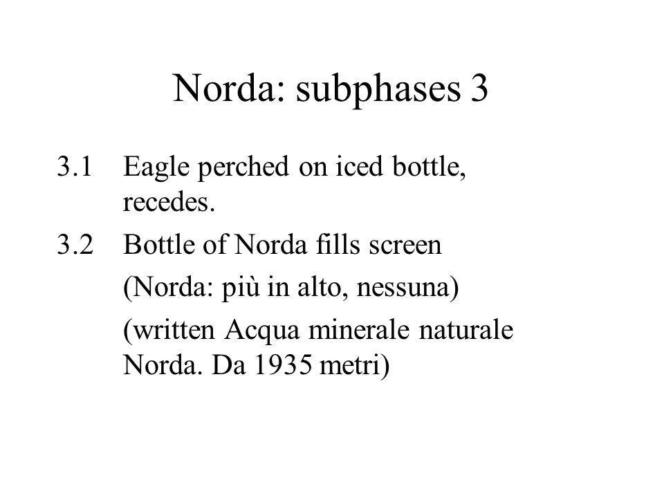 Norda: subphases 3 3.1Eagle perched on iced bottle, recedes.