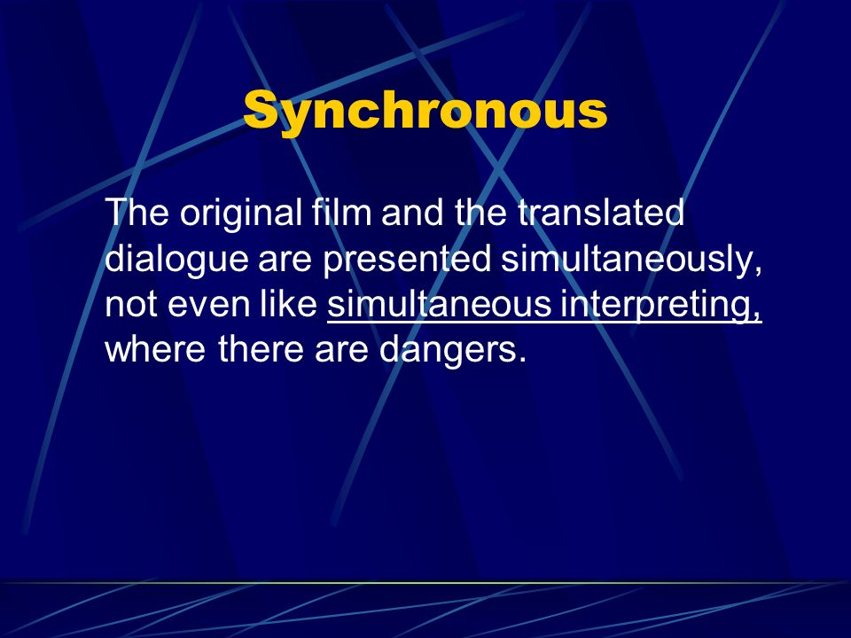 Immediate All discourse is presented in a flowing manner, beyond the control of the viewer. This is changing with the introduction of video, DVD, repe
