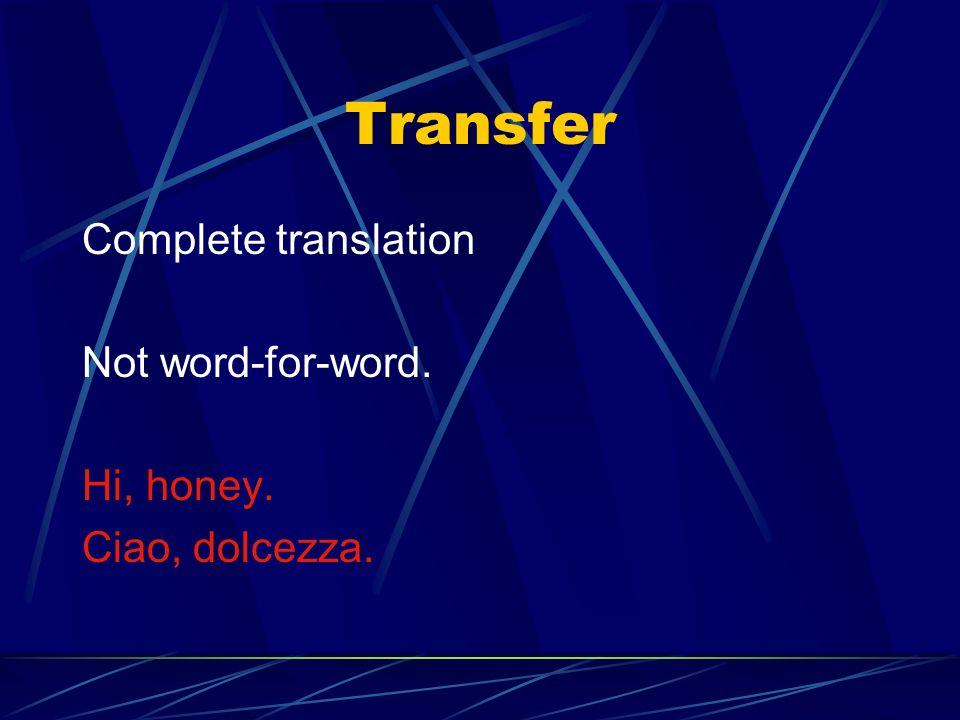 The Gottlieb Strategies TRANSFER EXPANSION CONDENSATION DECIMATION DELETION PARAPHRASE IMITATION TRANSCRIPTION DISLOCATION RESIGNATION