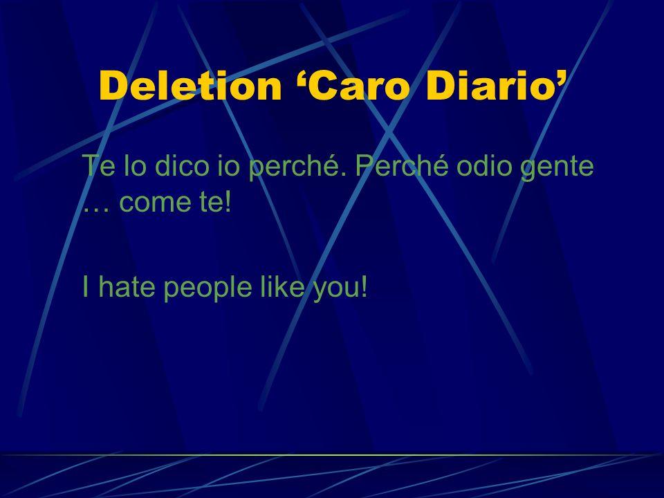 Decimation Caro Diario Agenti di borsa, deputati, assessori, giormalisti,… Brokers, congressmen, journalists,…