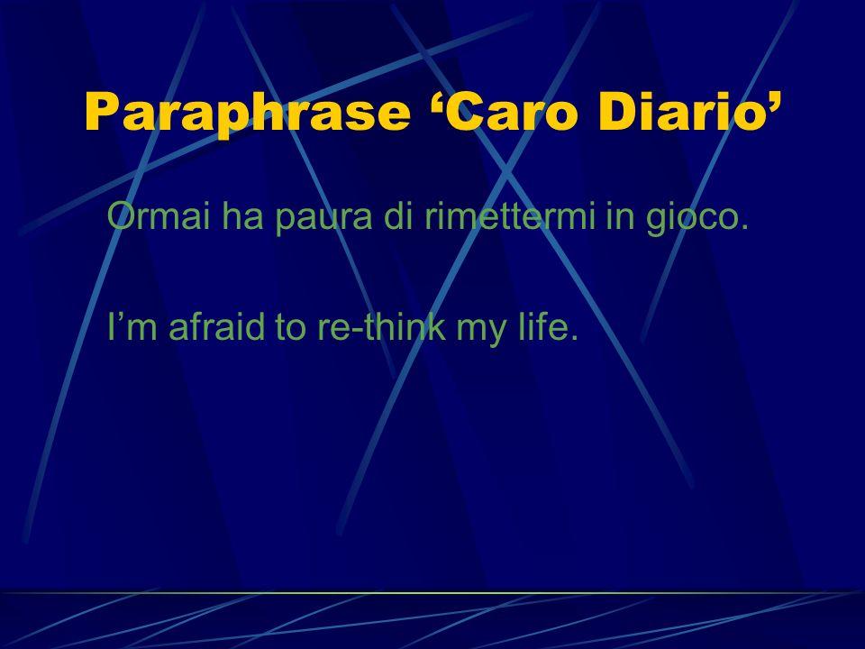 Deletion Caro Diario Te lo dico io perché. Perché odio gente … come te! I hate people like you!