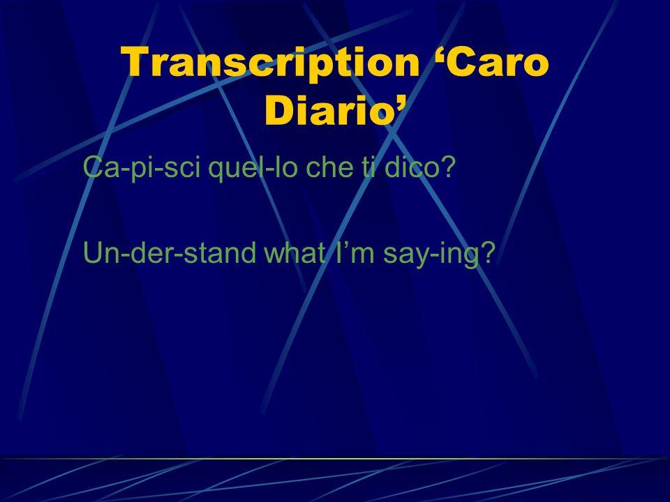 Imitation Caro Diario Quam juvat – quantè bello! Quam juvat – how beautiful!