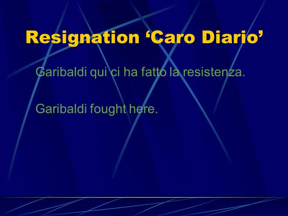 Transcription Caro Diario Ca-pi-sci quel-lo che ti dico? Un-der-stand what Im say-ing?