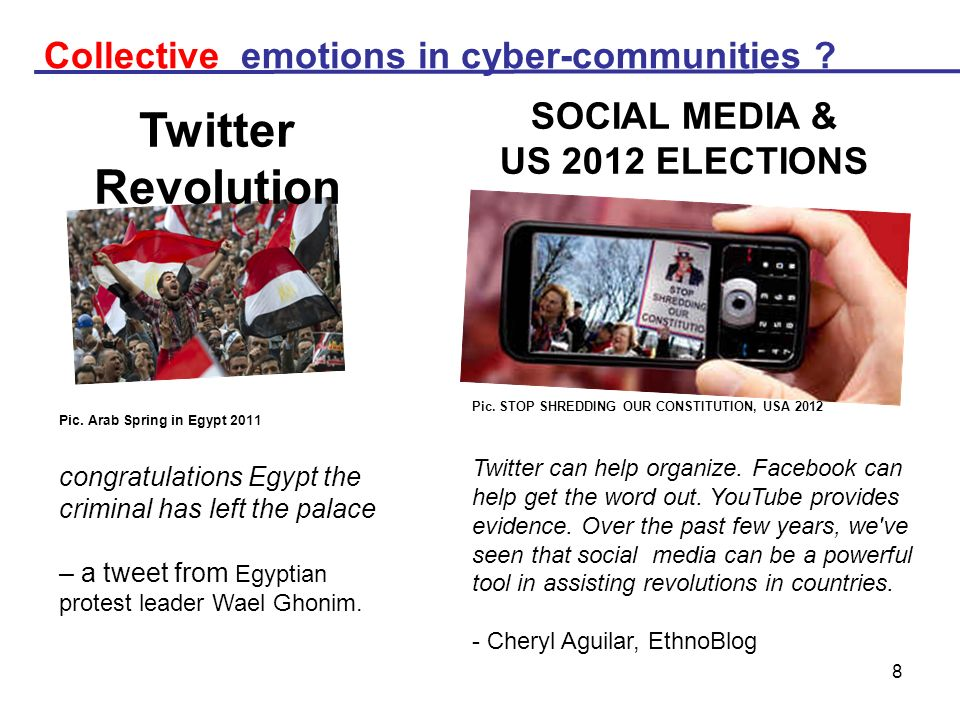 8 Twitter Revolution Pic. Arab Spring in Egypt 2011 congratulations Egypt the criminal has left the palace – a tweet from Egyptian protest leader Wael