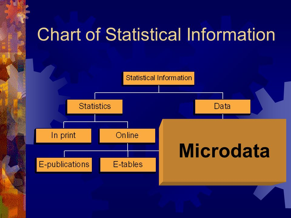 Chart of Statistical Information Microdata