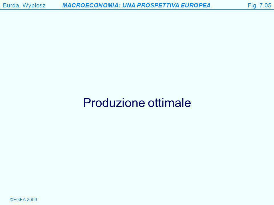 Burda, WyploszMACROECONOMIA: UNA PROSPETTIVA EUROPEA ©EGEA 2006 Figure 7.5 Produzione ottimale Fig.