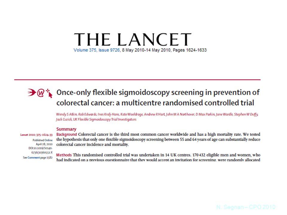 Atkin WS et al. Lancet 2010;375:1624-33 N. Segnan – CPO 2010