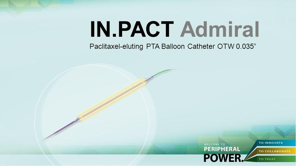 IN.PACT Admiral Paclitaxel-eluting PTA Balloon Catheter OTW 0.035