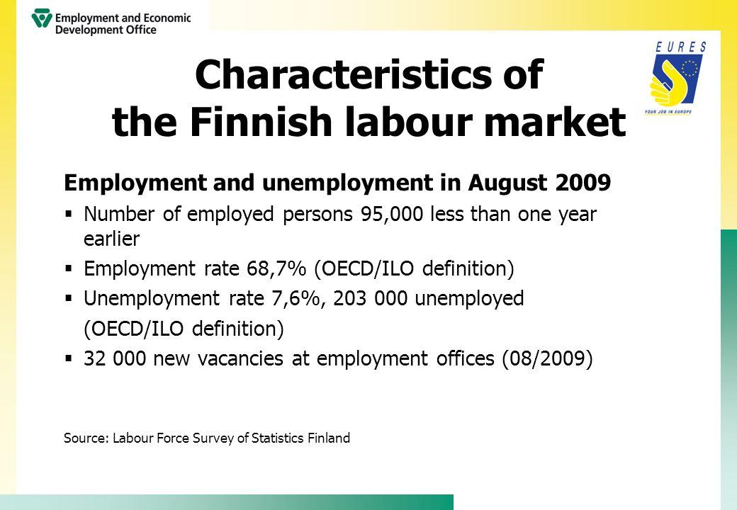 Regional labour market situation (2008)