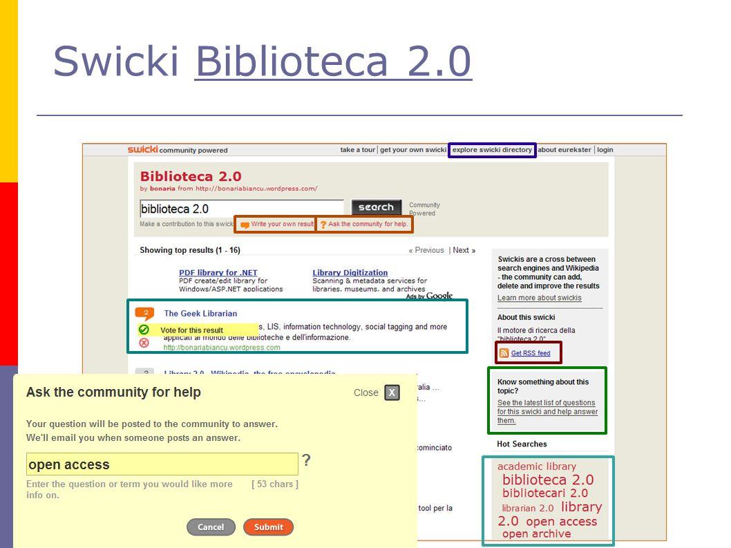 Swicki Biblioteca 2.0Biblioteca 2.0