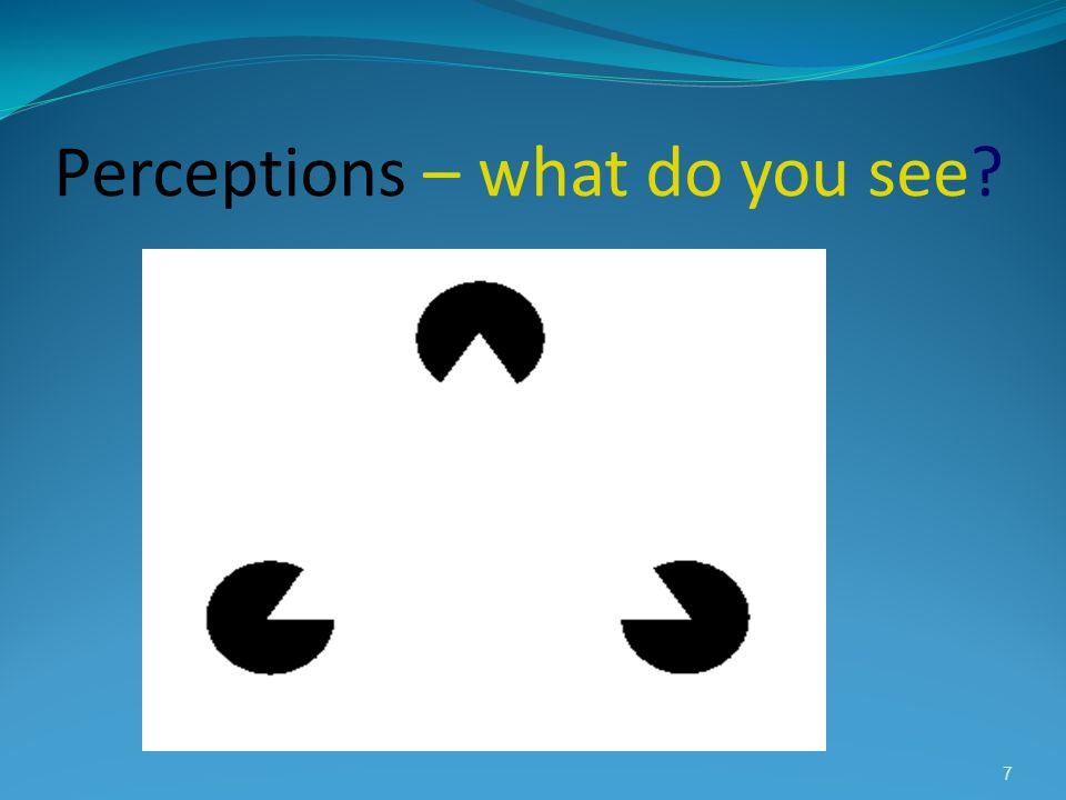 Perceptions – what do you see? 7