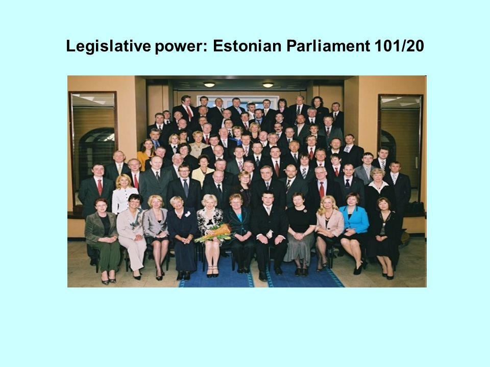 Legislative power: Estonian Parliament 101/20