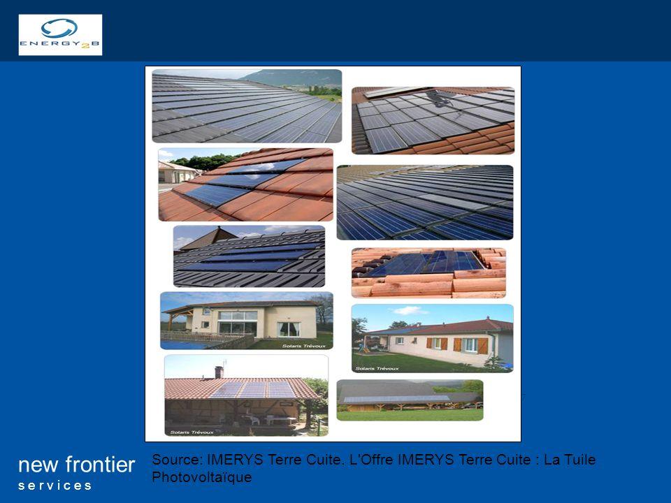 17 new frontier s e r v i c e s Source: IMERYS Terre Cuite. L'Offre IMERYS Terre Cuite : La Tuile Photovoltaïque
