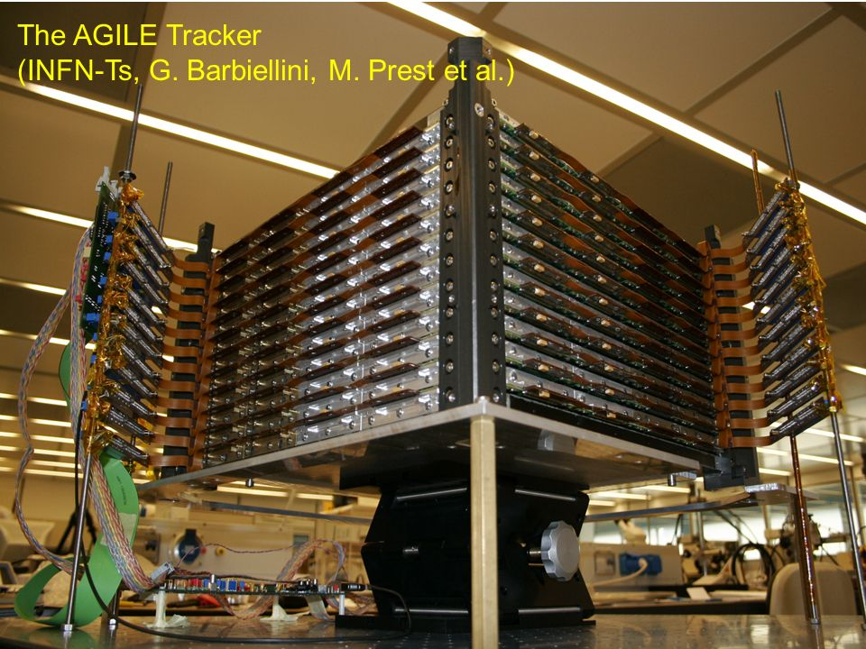 G.Barbiellini, G.Iafrate -- 12 The AGILE Tracker (INFN-Ts, G. Barbiellini, M. Prest et al.)