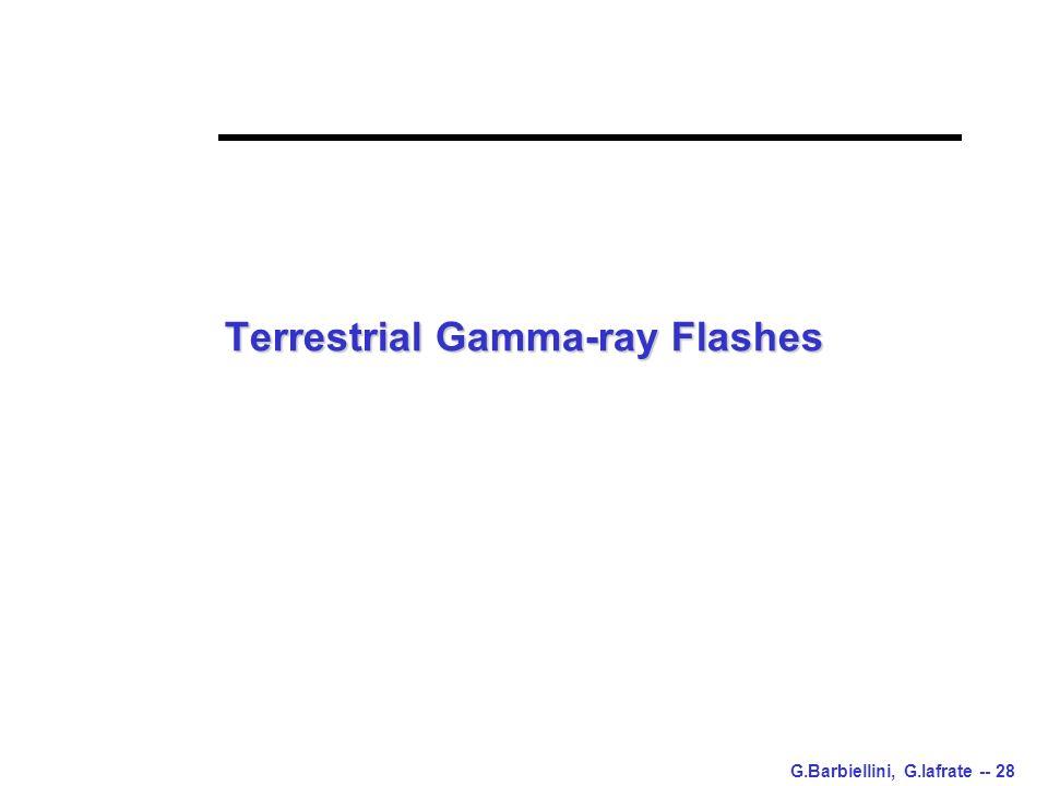 G.Barbiellini, G.Iafrate -- 28 Terrestrial Gamma-ray Flashes