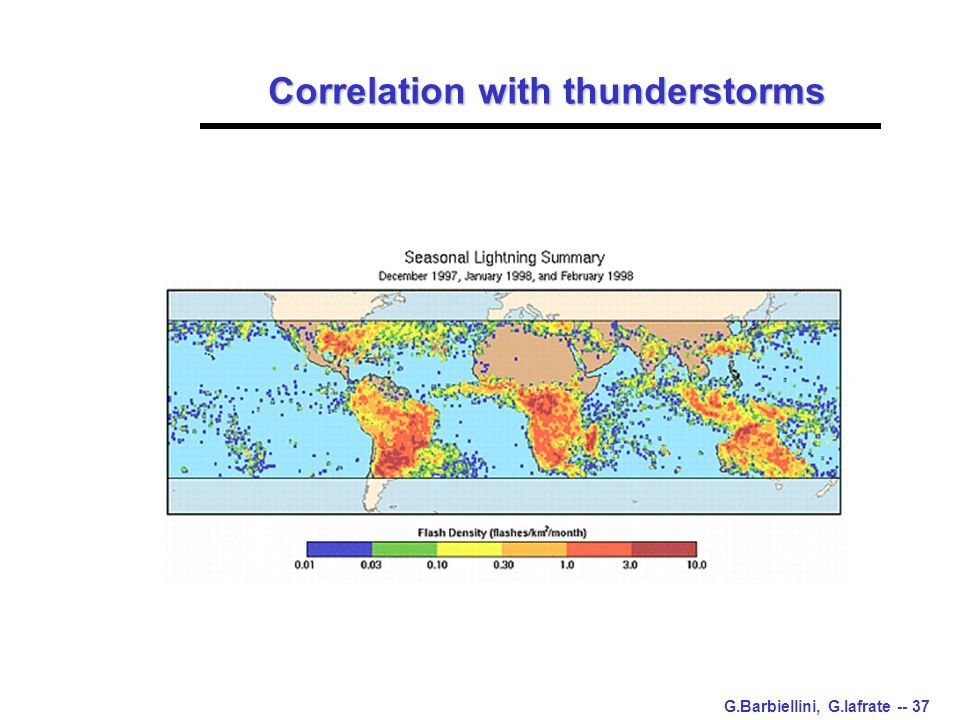 G.Barbiellini, G.Iafrate -- 37 Correlation with thunderstorms