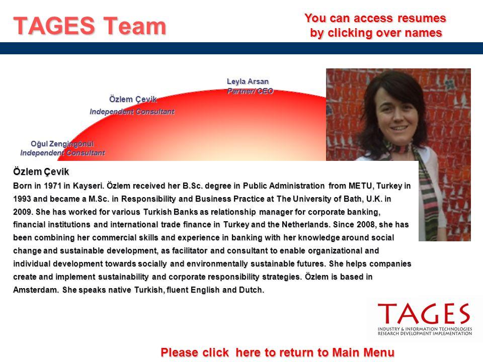 Please click here to return to Main Menu Please click here to return to Main Menu TAGES Team You can access resumes You can access resumes by clicking