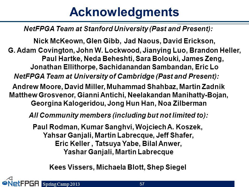Spring Camp 2013 57 Nick McKeown, Glen Gibb, Jad Naous, David Erickson, G. Adam Covington, John W. Lockwood, Jianying Luo, Brandon Heller, Paul Hartke