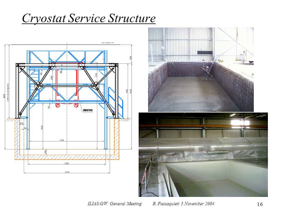 ILIAS-GW General Meeting R. Passaquieti 5 November 2004 16 Cryostat Service Structure