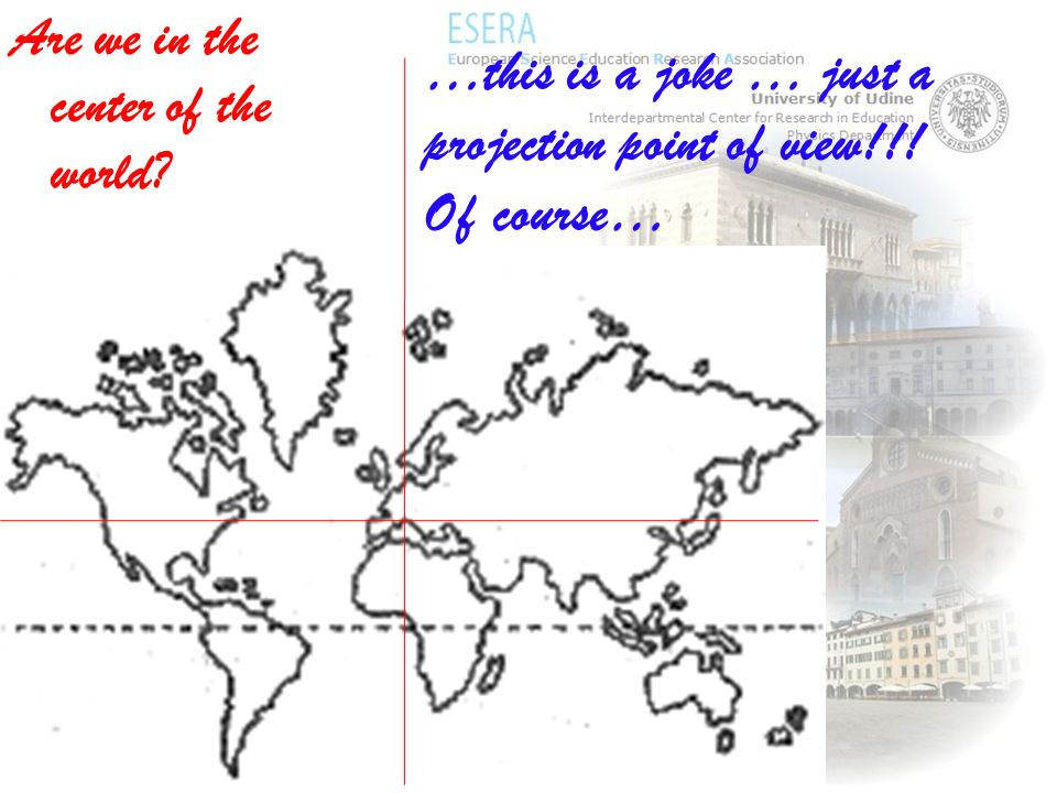 Are we in the center of the world? …this is a joke … just a projection point of view!!! Of course…