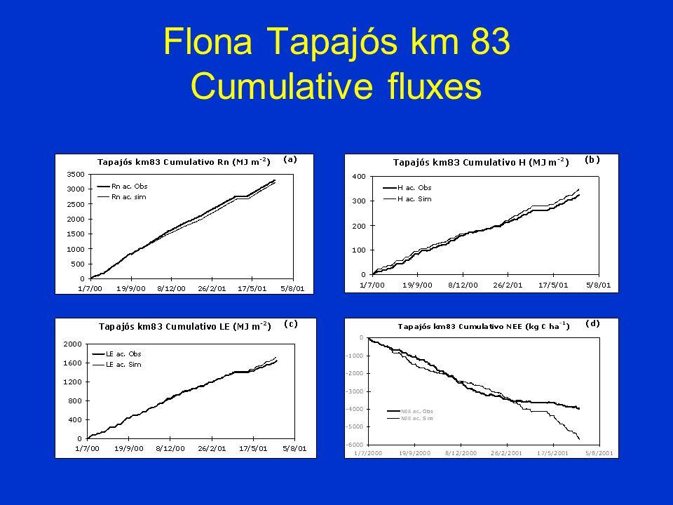Flona Tapajós km 83 Cumulative fluxes