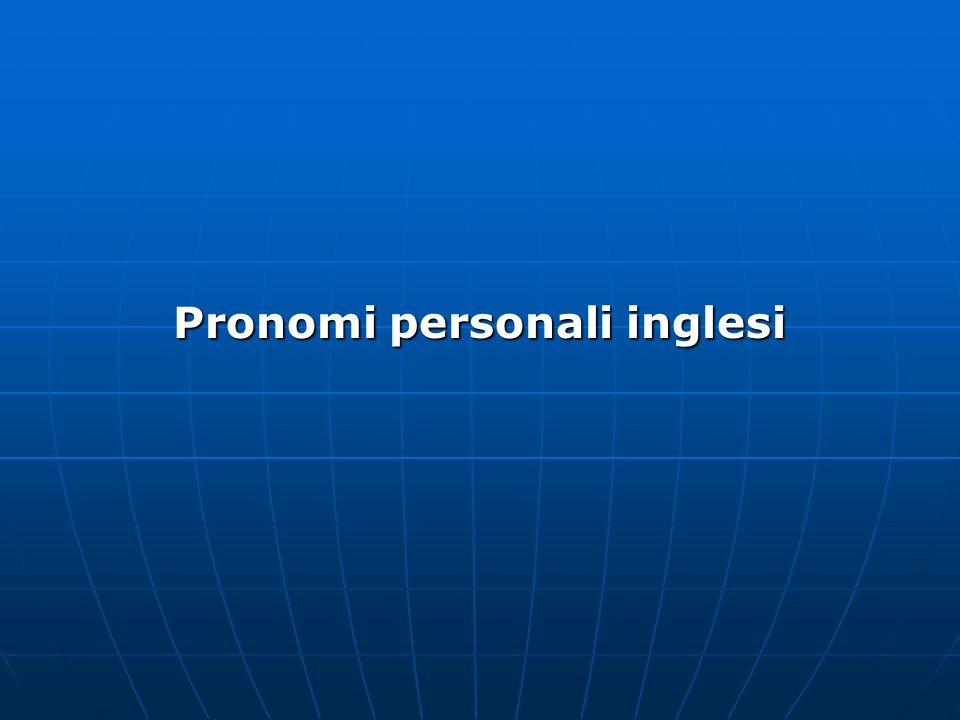 Pronomi personali inglesi