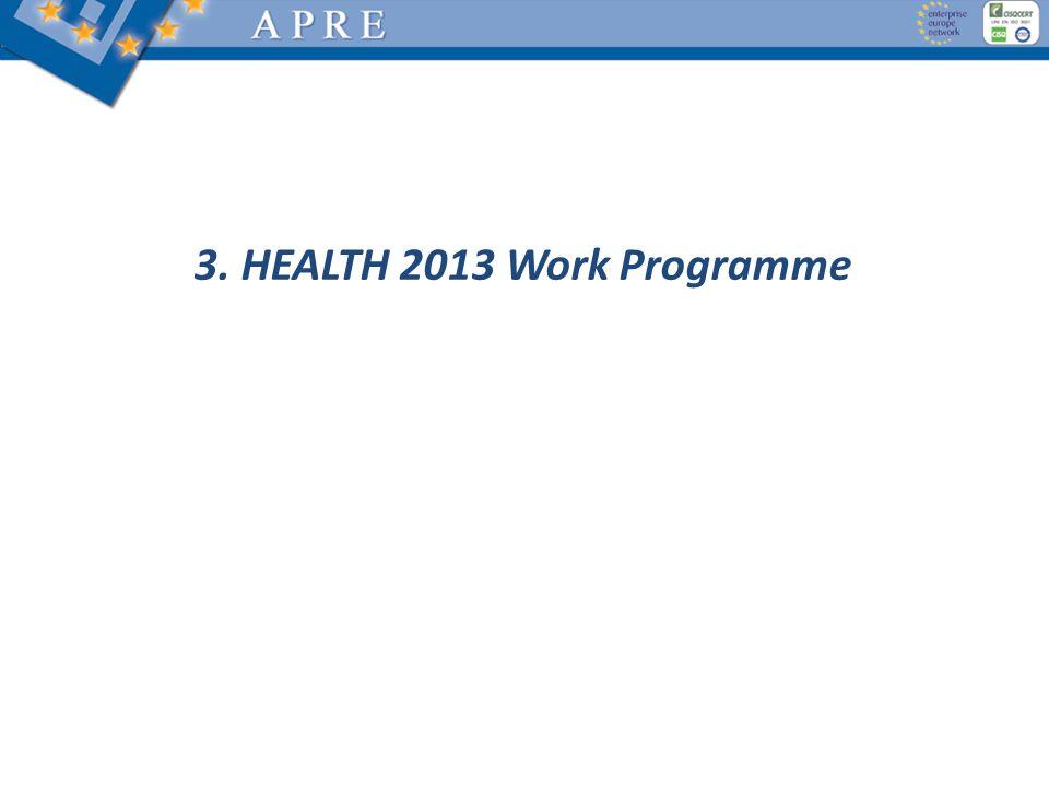 3. HEALTH 2013 Work Programme
