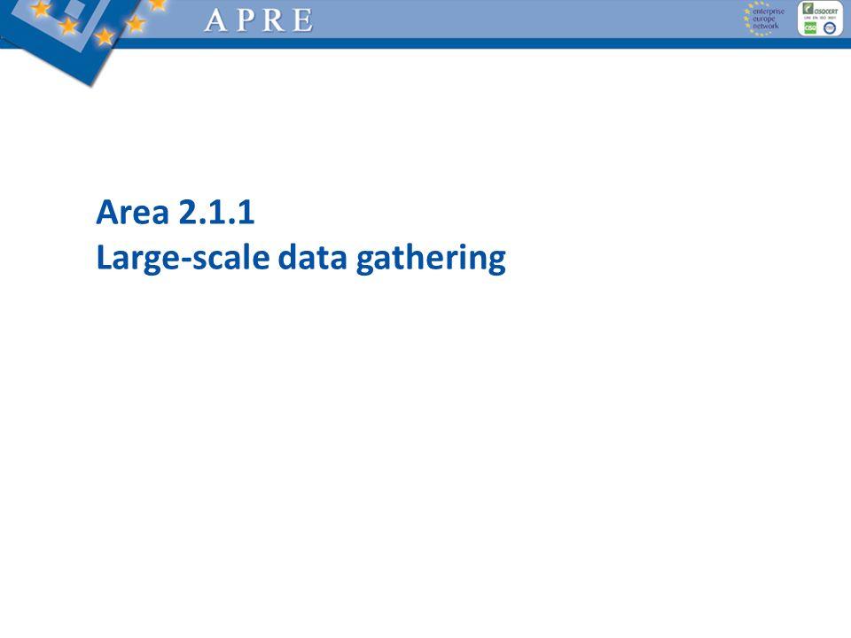 Area 2.1.1 Large-scale data gathering