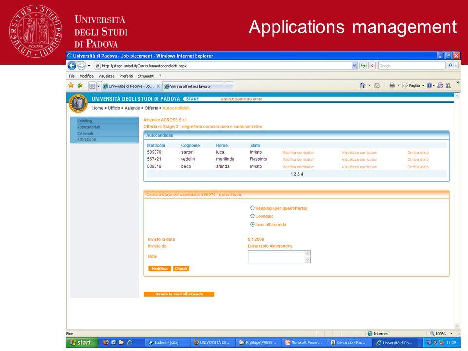Applications management