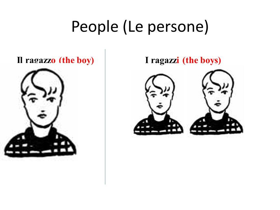 People (Le persone) Il ragazzo (the boy)I ragazzi (the boys)
