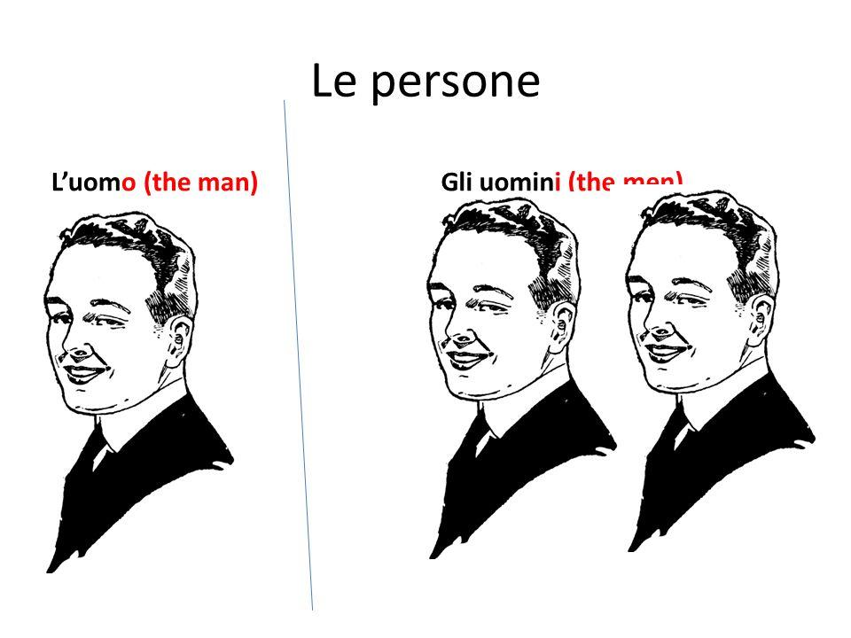 Le persone Luomo (the man)Gli uomini (the men)