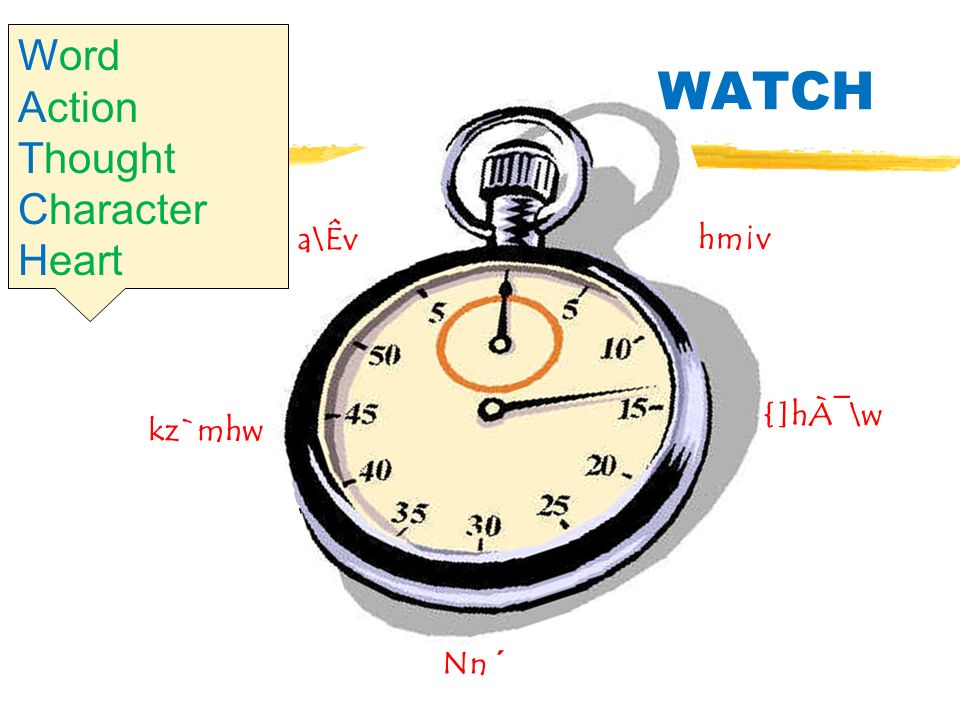 {]hÀ¯\w kz`mhw a\Êv Nn ´ hm¡v WATCH Word Action Thought Character Heart