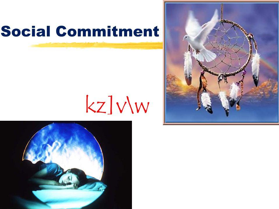 Social Commitment kz]v\w