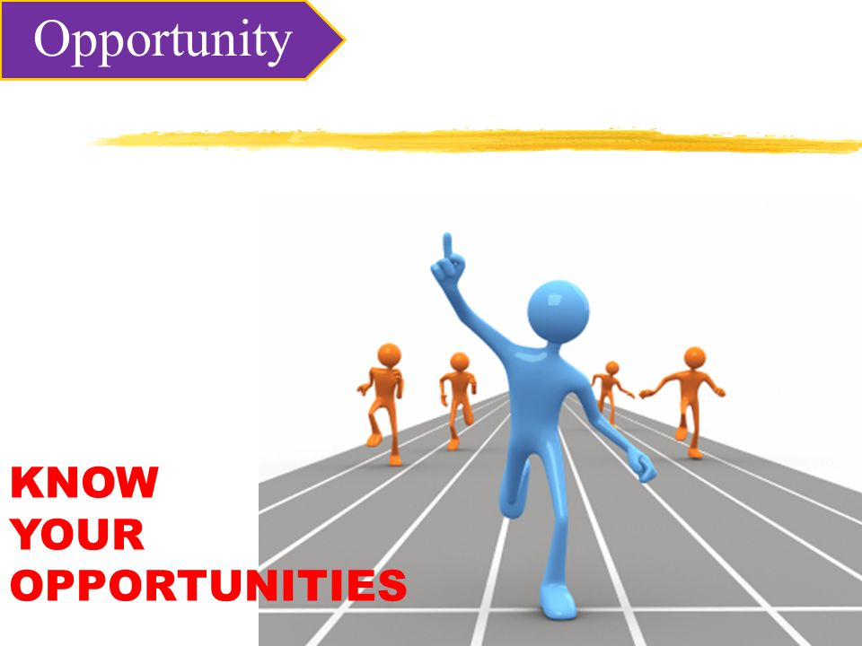 KNOW YOUR OPPORTUNITIES Opportunity