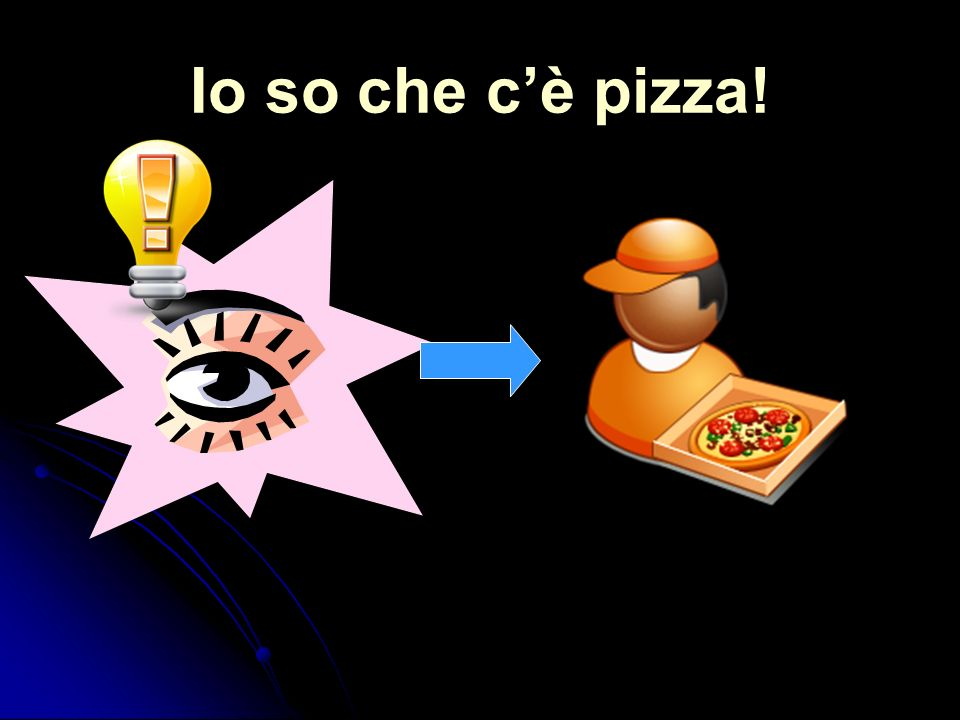 Io so che cè pizza!