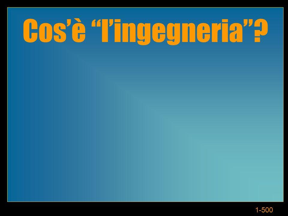 1-500 Cosè lingegneria