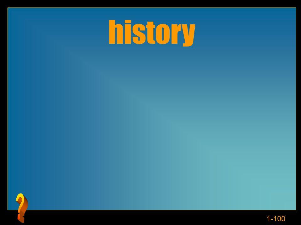 1-100 history