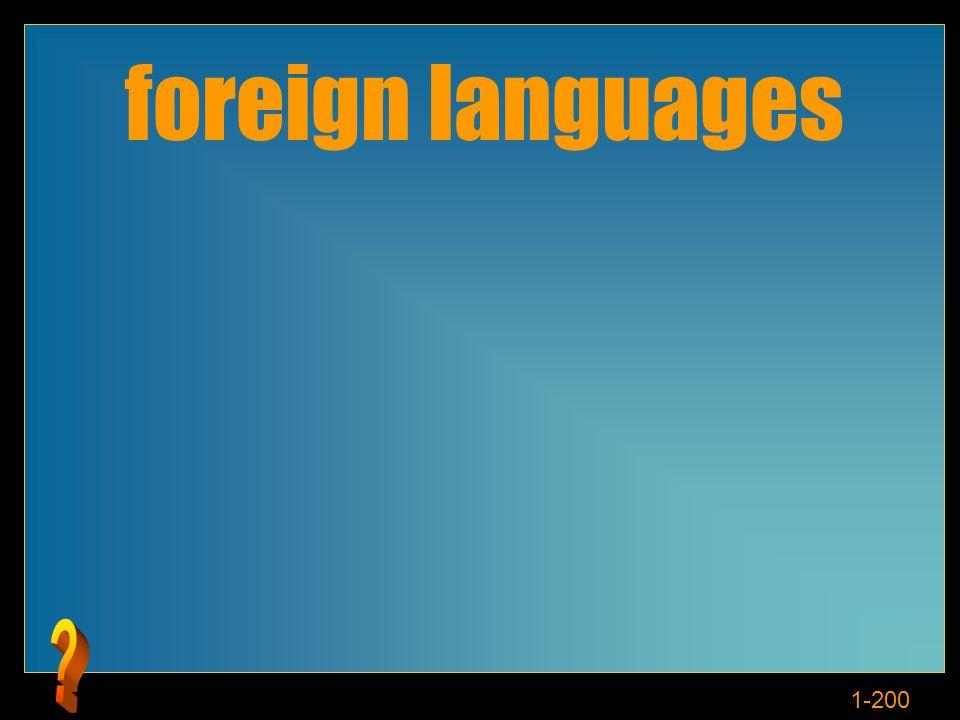 1-200 Cosè le lingue stranieri?