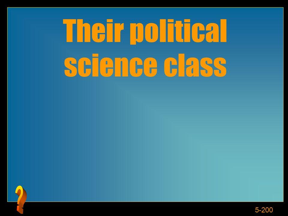 5-200 Their political science class