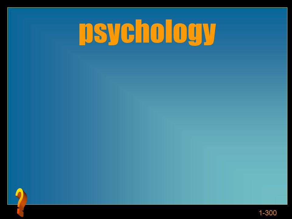 1-300 Cosè la psicologia?