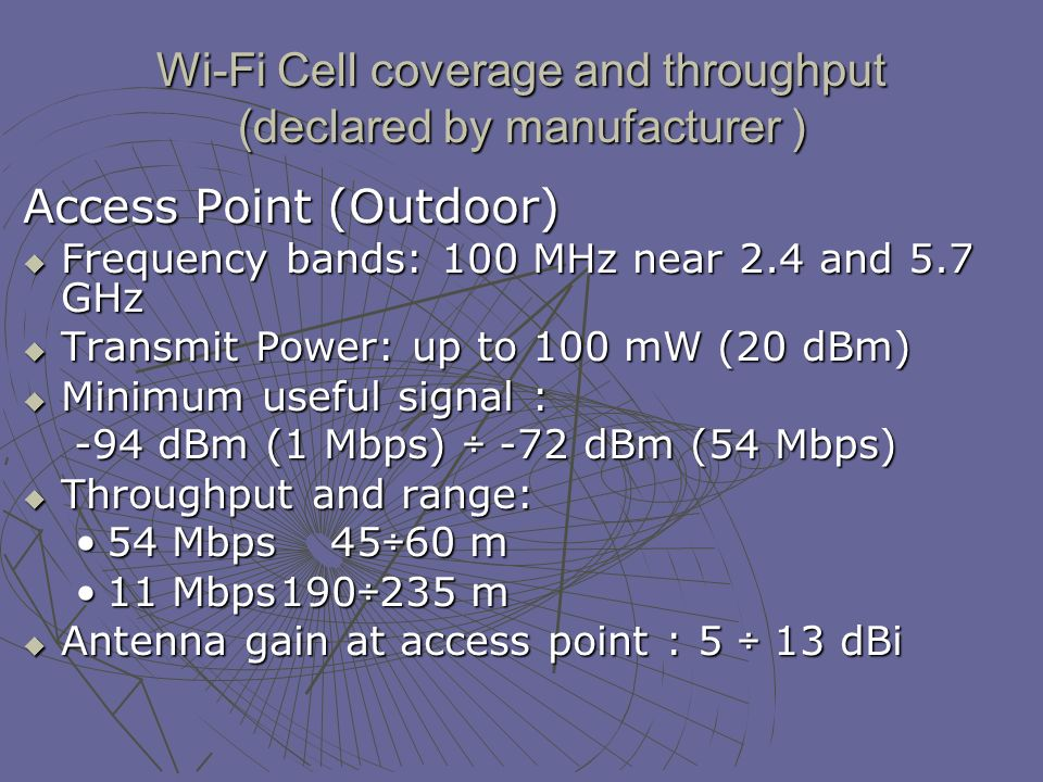 WiMAX far-field exposition