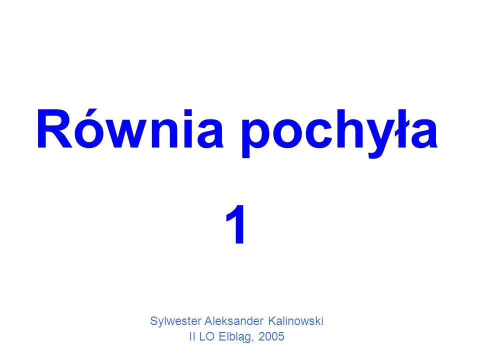 Równia pochyła 1 Sylwester Aleksander Kalinowski II LO Elbląg, 2005