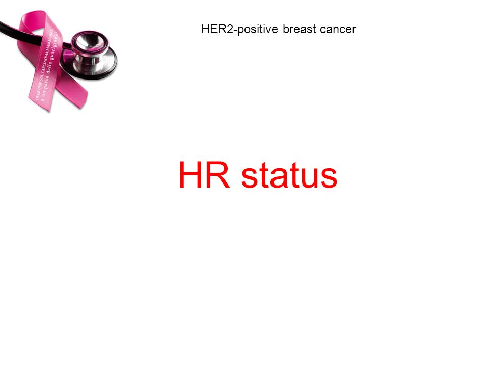 HR status HER2-positive breast cancer