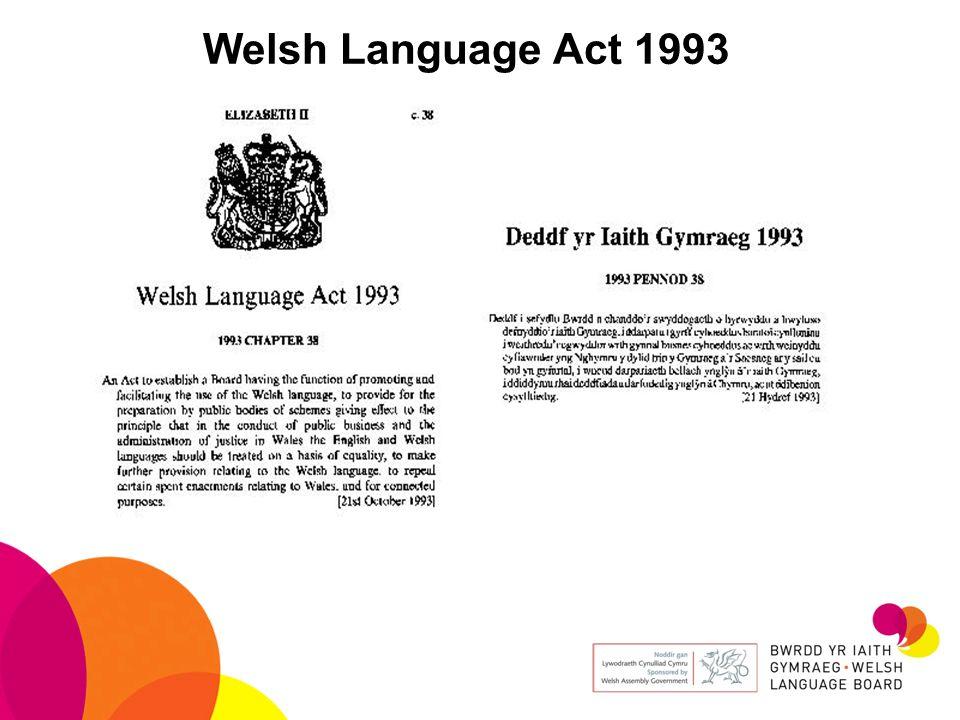Welsh Language Act 1993