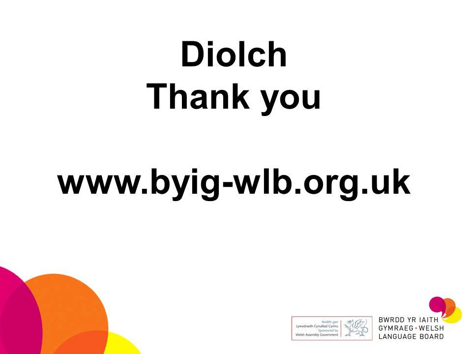 Diolch Thank you www.byig-wlb.org.uk